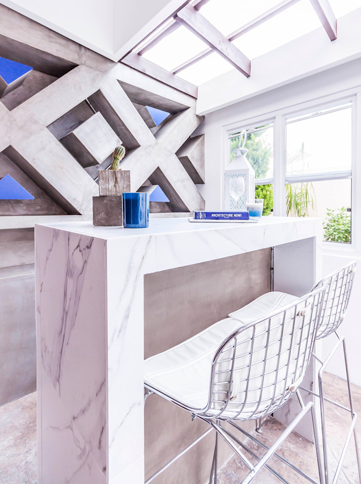SZTUKA Laboratorio Creativo de Arquitectura Eclectic style houses Marble Grey