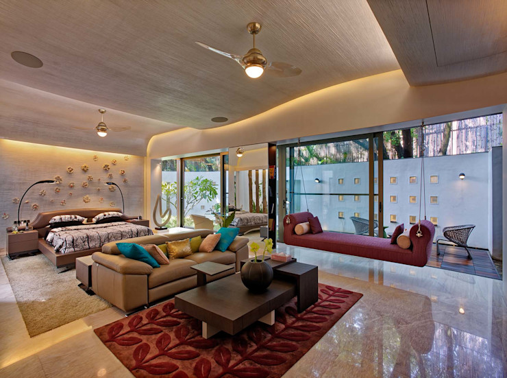 Nest - Private residence at Koregaon Park TAO Architecture Pvt. Ltd. Modern style bedroom