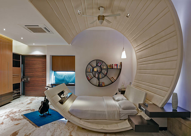 TAO Architecture Pvt. Ltd. Dormitorios de estilo moderno