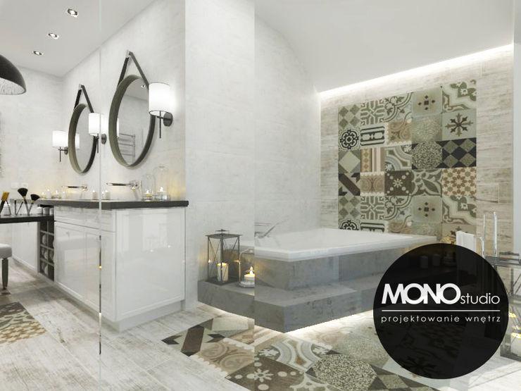 MONOstudio Baños de estilo escandinavo Compuestos de madera y plástico Negro