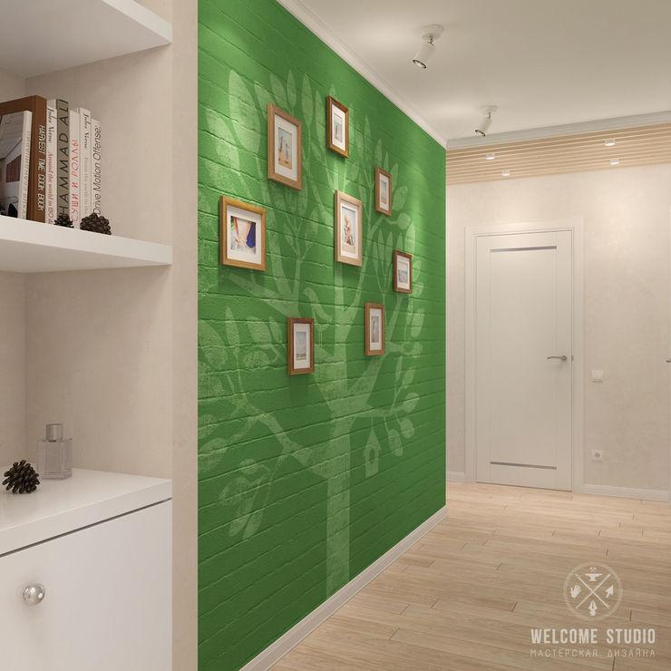 Мастерская дизайна Welcome Studio Scandinavian style corridor, hallway& stairs