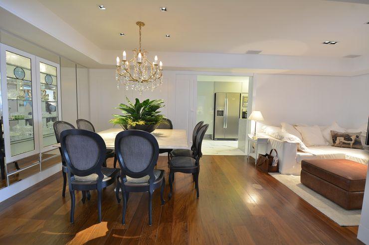 RESIDÊNCIA JF Maria Christina Rinaldi Arquitetos Eclectic style dining room