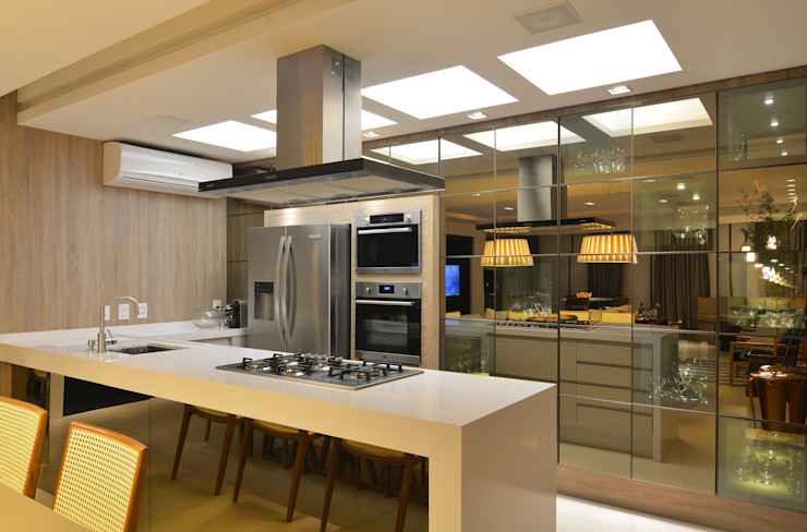 ANNA MAYA ARQUITETURA E ARTE 現代廚房設計點子、靈感&圖片