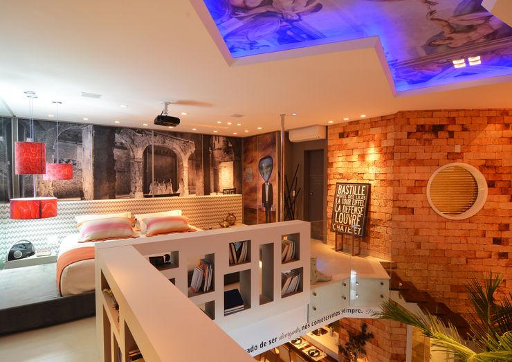 ANNA MAYA ARQUITETURA E ARTE Dormitorios de estilo rústico Ladrillos Multicolor