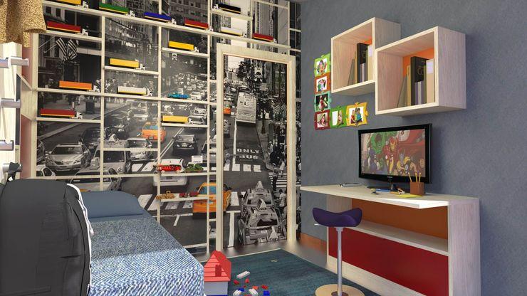 View of the desk Planet G Camera da letto moderna