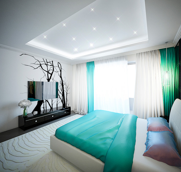 Insight Vision GmbH Modern style bedroom Turquoise