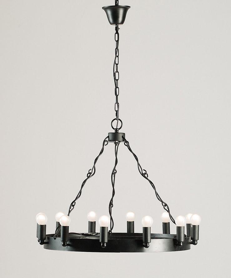 CROWN 1 – METAL CHANDELIER Altavola Design Sp. z o.o. Living roomLighting Metal Black