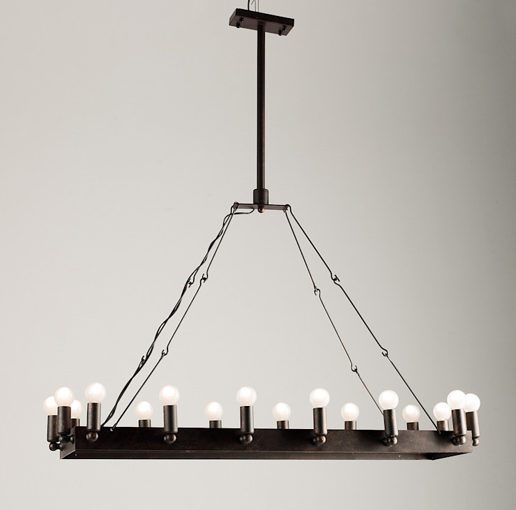 CROWN NO. 2 – METAL CHANDELIER Altavola Design Sp. z o.o. Living roomLighting Metal Black