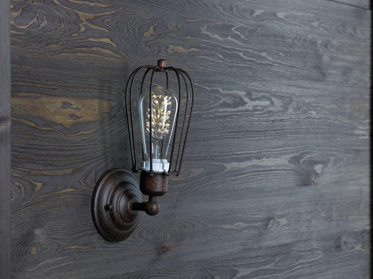 KOPENHAGEN LOFT RUSTY WALL LE Altavola Design Sp. z o.o. Living roomLighting Metal