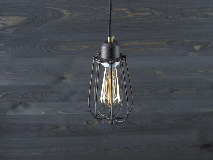KOPENHAGEN LOFT RUSTY–PENDANT LIGHTING Altavola Design Sp. z o.o. Living roomLighting Metal