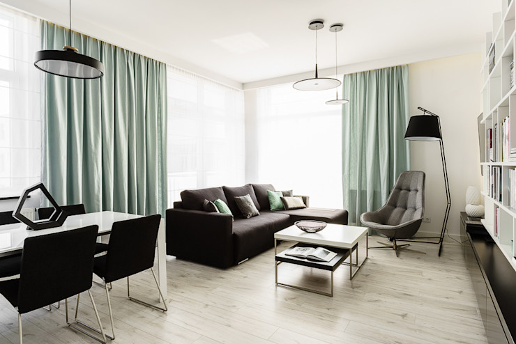 Anna Maria Sokołowska Architektura Wnętrz Modern living room White