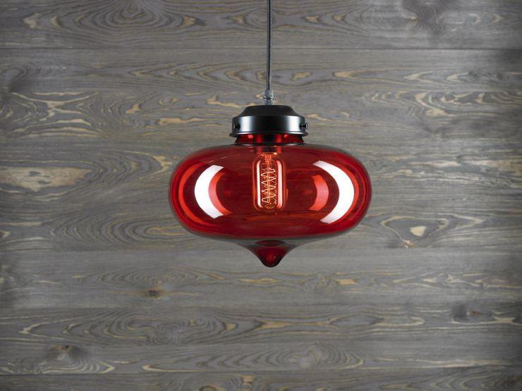 LONDON LOFT NO.1R–PENDANT LIGHTING Altavola Design Sp. z o.o. Living roomLighting Glass Red