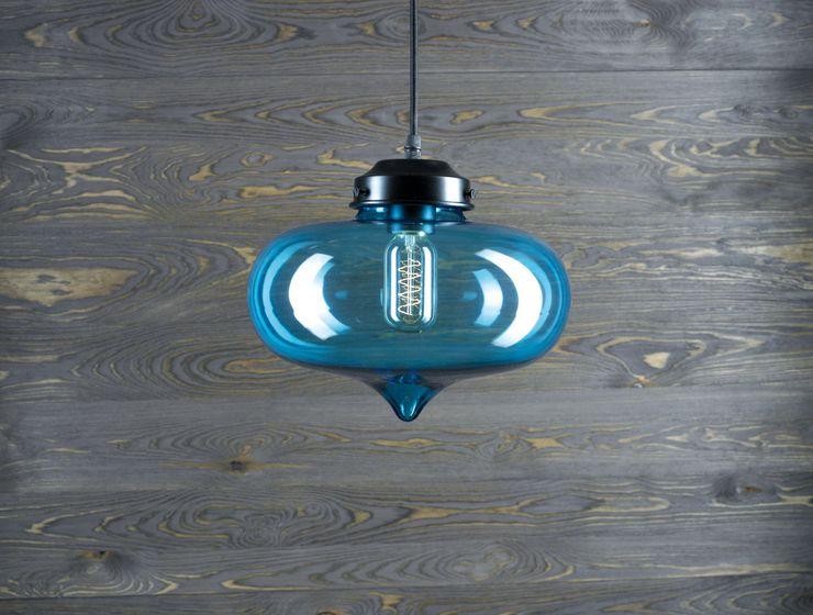 LONDON LOFT 1BL–PENDANT LIGHTING Altavola Design Sp. z o.o. Living roomLighting Glass Blue