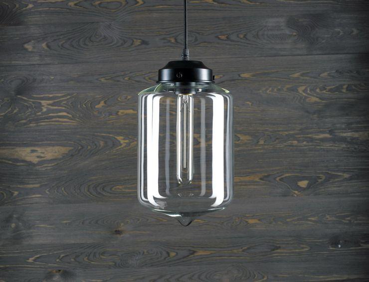 LONDON LOFT NO. 2 – PENDANT LAMP Altavola Design Sp. z o.o. Living roomLighting Glass Transparent
