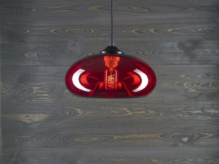 LONDON LOFT NO. 3 R–PENDANT LIGHTING Altavola Design Sp. z o.o. Living roomLighting Glass Red