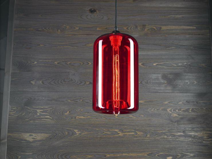 LONDON LOFT NO. 4R–PENDANT LIGHTING Altavola Design Sp. z o.o. Living roomLighting Glass Red