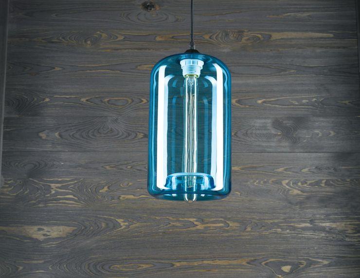 LONDON LOFT NO. 4BL–PENDANT LIGHTING Altavola Design Sp. z o.o. Living roomLighting Glass Blue