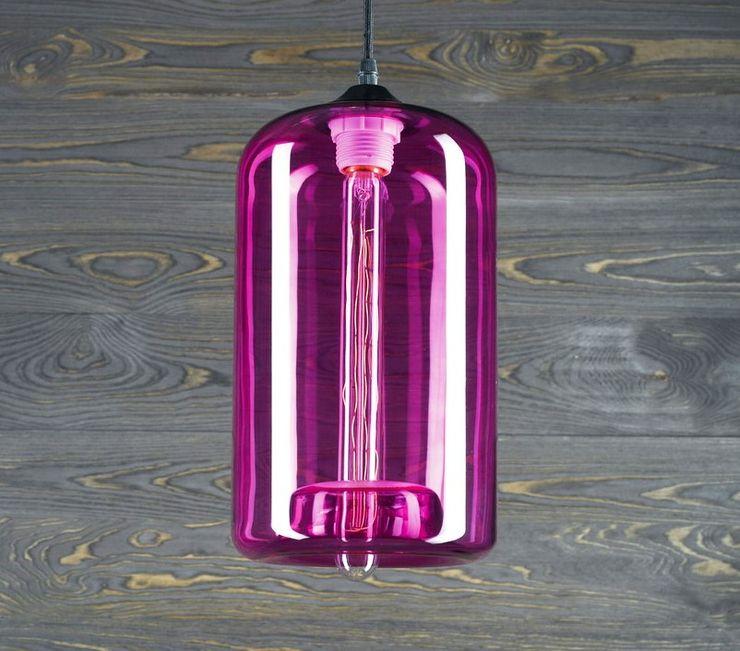 LONDON LOFT NO. 4P–PENDANT LIGHTING Altavola Design Sp. z o.o. Living roomLighting Glass Pink