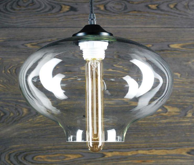 LONDON LOFT NO. 6–PENDANT LIGHTING Altavola Design Sp. z o.o. Living roomLighting Glass Transparent