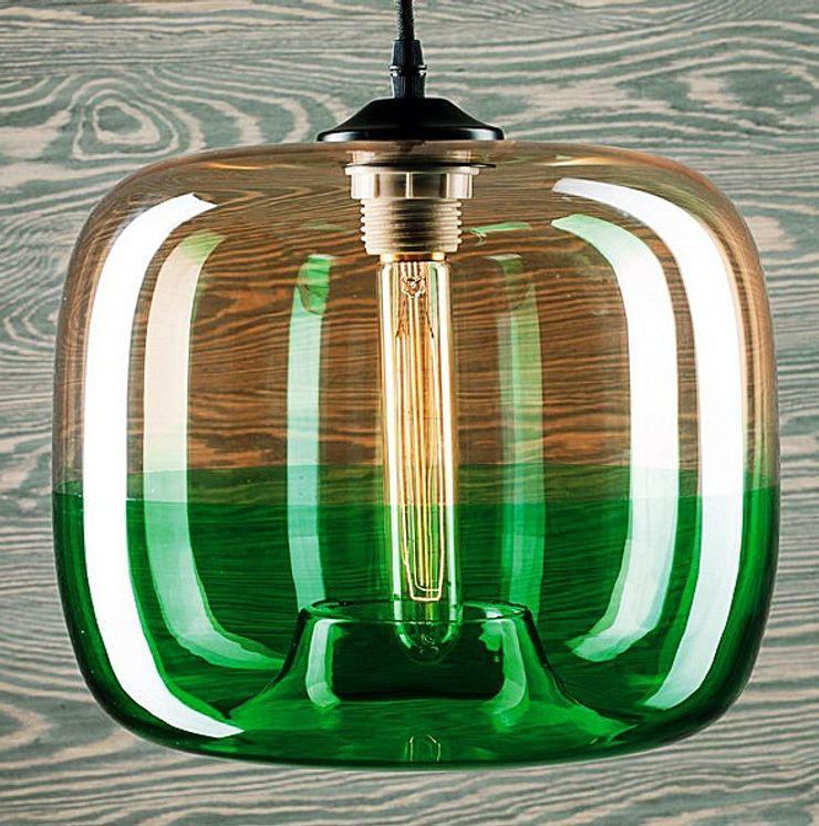 LONDON LOFT NO. 5 AG – PENDANT LAMP Altavola Design Sp. z o.o. Living roomLighting Glass Green