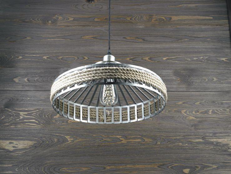 PRAGUE LOFT – PENDANT LIGHTING Altavola Design Sp. z o.o. Living roomLighting Metal Grey
