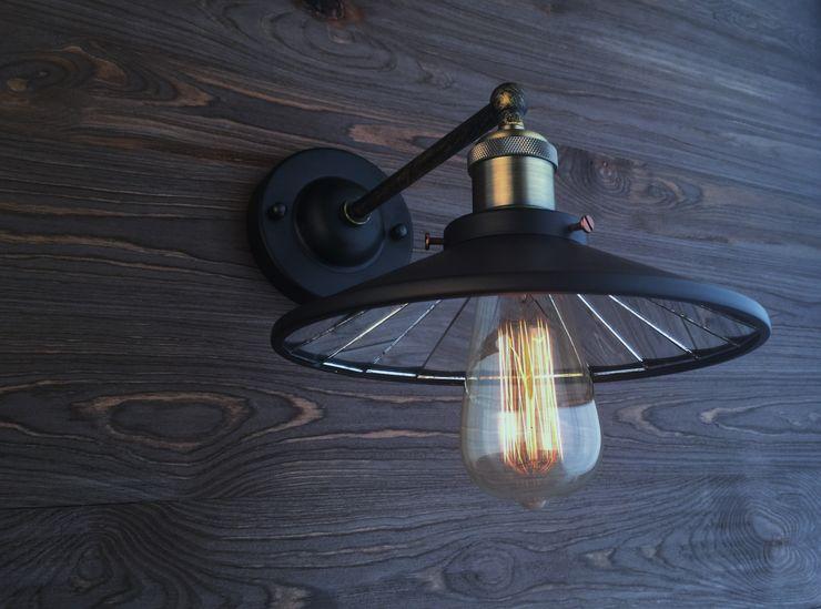 EINDHOVEN LOFT NO. 3 – WALL LAMP Altavola Design Sp. z o.o. Living roomLighting Black