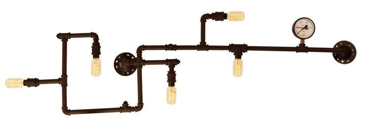 INDUSTRIAL LOFT NO. 2 – WALL LAMP Altavola Design Sp. z o.o. Study/officeLighting