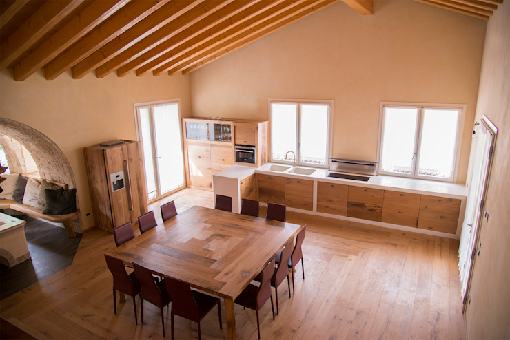 RI-NOVO Salas de estilo rural Madera