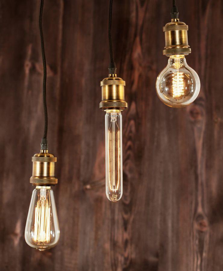 INDUSTRIAL CHIC-EDISON BULB-PENDANT LAMP Altavola Design Sp. z o.o. Living roomLighting
