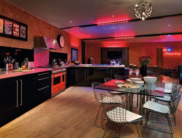 Mews House Islington with roof terrace Quirke McNamara Industrial style kitchen