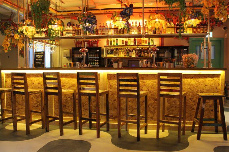 Reclaimed Boat Wood Bar Stools BluBambu Living 廚房桌椅 木頭