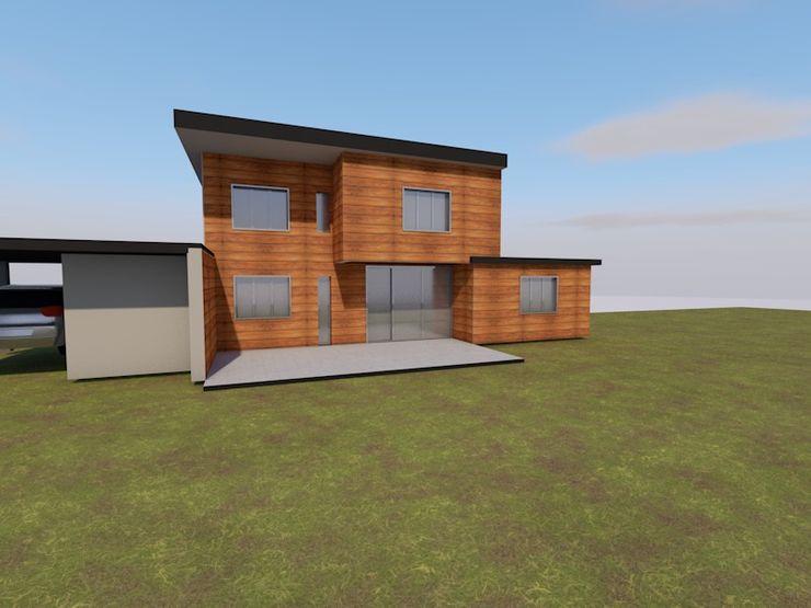 Petit budget: Conception maison individuelle AeA - Architecture Eric Agro Maisons modernes