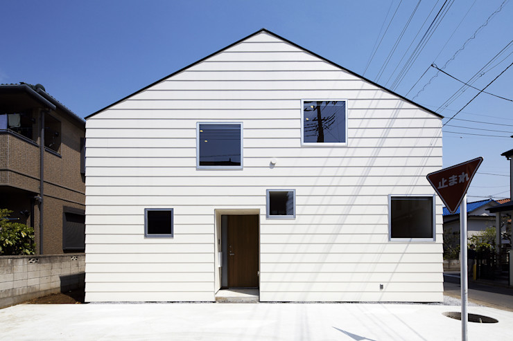 株式会社廣田悟建築設計事務所 Minimalist houses White
