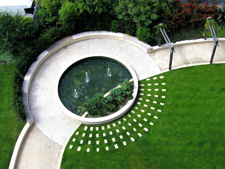 The Pavilion, London Bowles & Wyer Modern style gardens