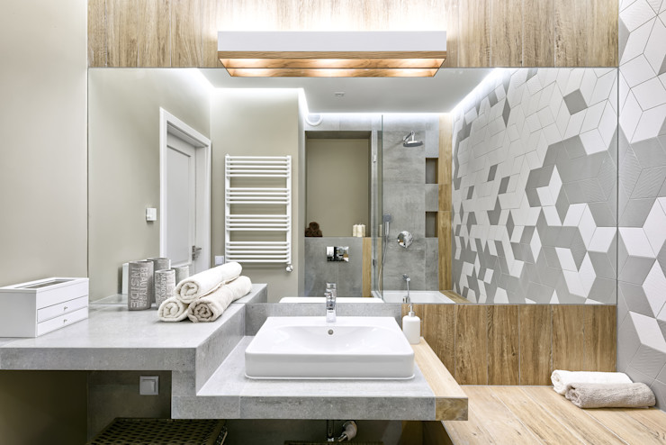 Q2Design Phòng tắm phong cách Bắc Âu