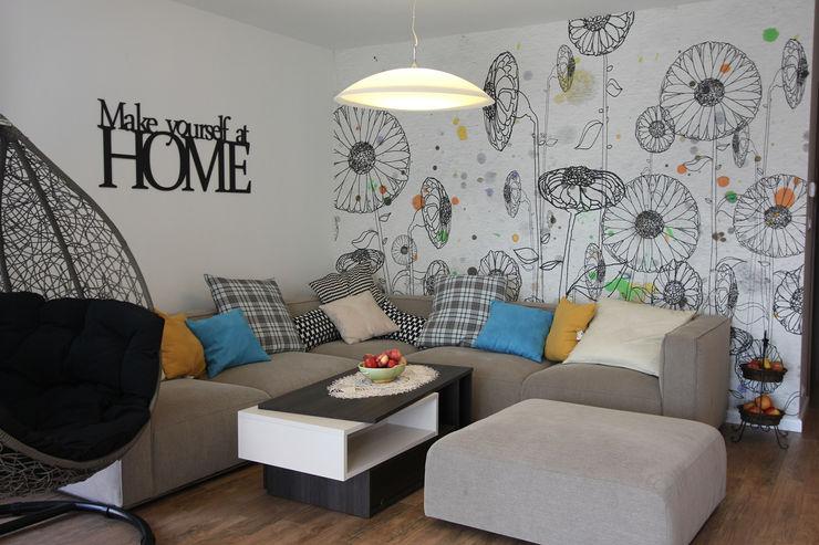 Architektura Wnętrz Magdalena Sidor Modern Living Room