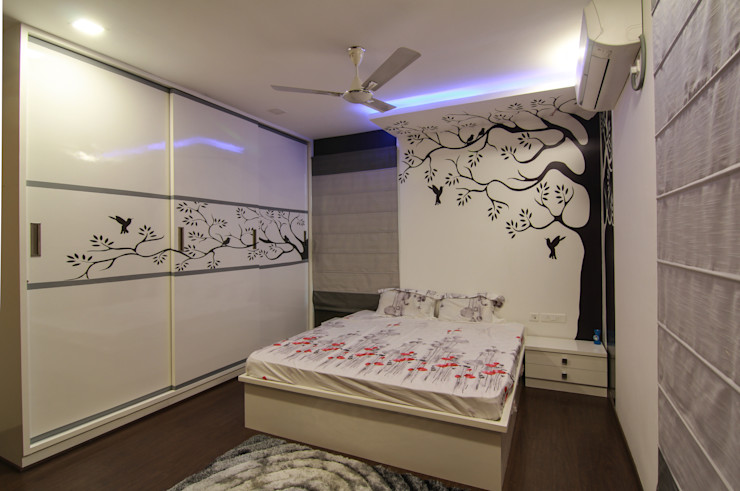 KREATIVE HOUSE Dormitorios de estilo ecléctico Madera Marrón
