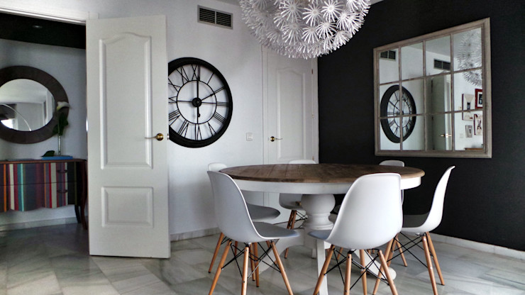 Proyecto de interiorismo residencial en Marbella Estudio Reverso Comedores de estilo moderno