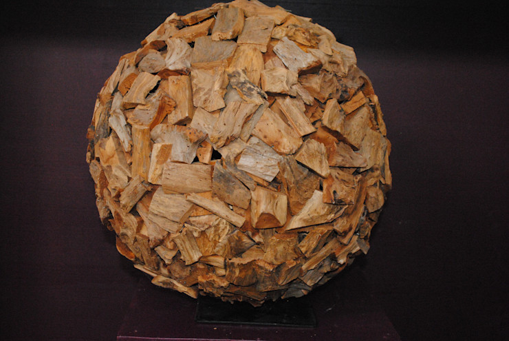 Holz Kugel Haedi-Flor Meisterbetrieb HaushaltAccessoires und Dekoration Holz Braun