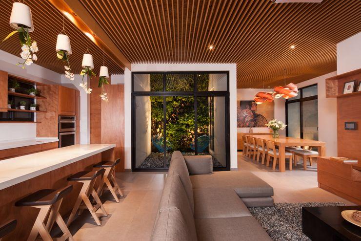 LGZ Taller de arquitectura Modern living room Wood Wood effect