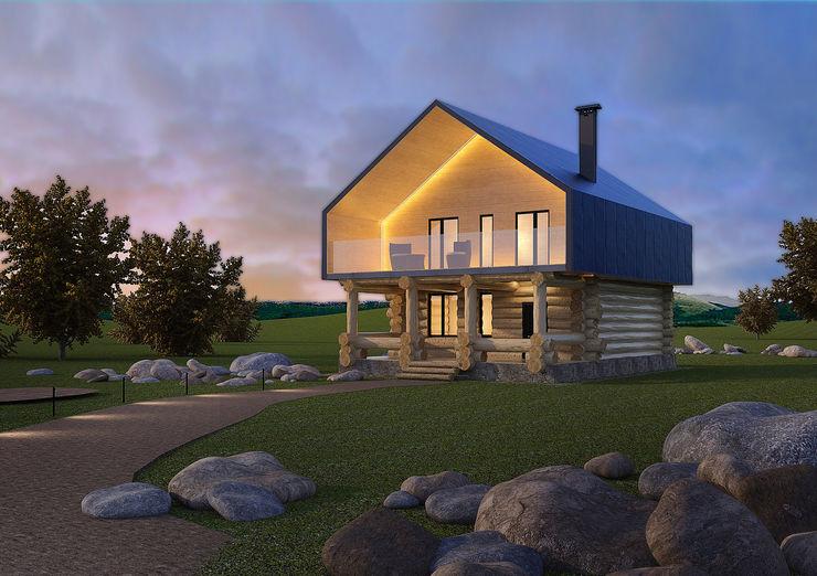 Dmitriy Khanin Casas de estilo ecléctico Madera Acabado en madera
