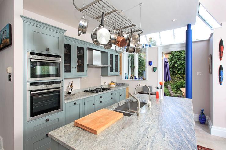 Mediterranean Style Rencraft Kitchen Wood Blue