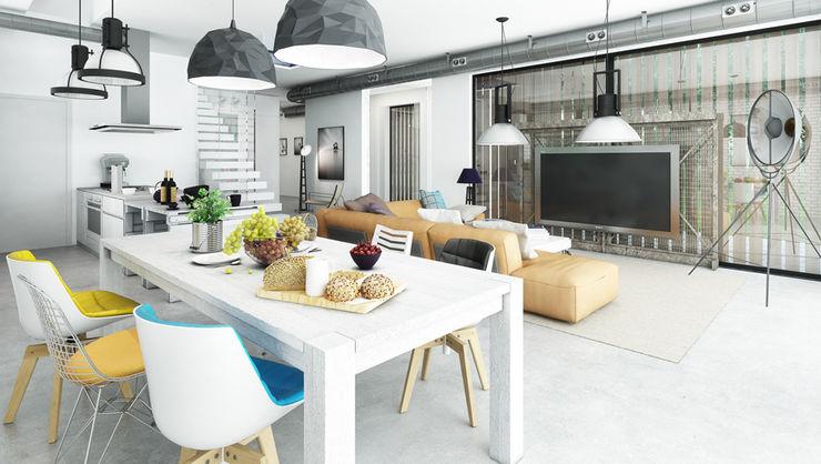 Majchrzak Pracownia Projektowa Moderne Wohnzimmer