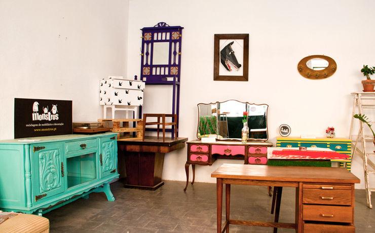 Atelier de recuperação de móveis Monstros CasaArtigos para a casa Madeira