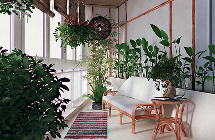 студия дизайна 'Крендель' Modern conservatory