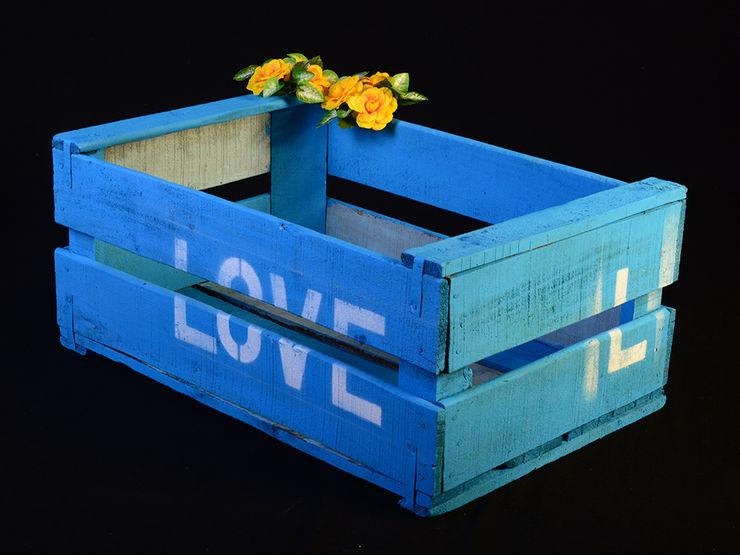 Cajas de fruta de madera Pablo Antigüedades HogarAccesorios y decoración Madera Azul