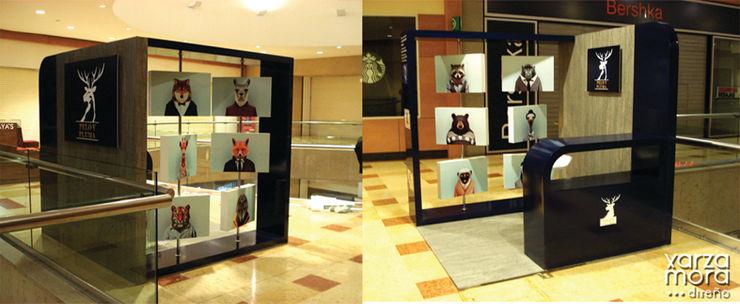 Pelo y Pluma Xarzamora Diseño Centros comerciales de estilo minimalista