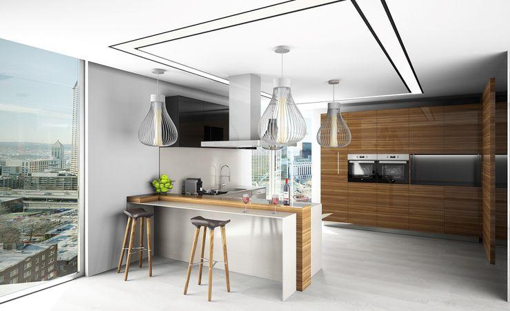 Cozinha Live Decoration Cozinhas ecléticas Multicolor