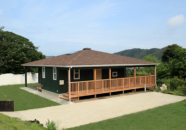 honda Country style house Wood Brown