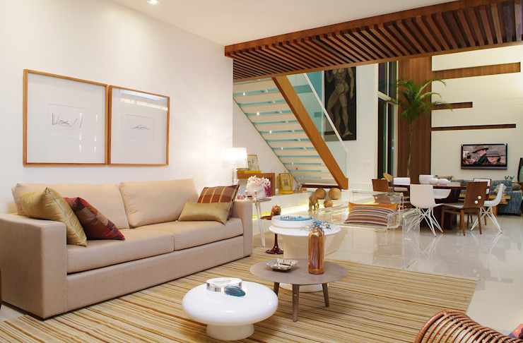360arquitetura Salones de estilo minimalista